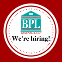 We're Hiring for a Youth Services Librarian!