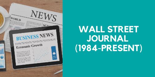 Wall Street Journal (1984-Present))