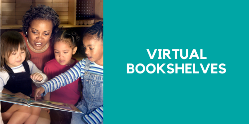 Virtual Bookshelves with collections recommended by age and interest