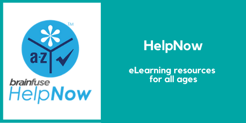 HelpNow. E-Learning resources for all ages including live tutors, skill learning libraries, and more.